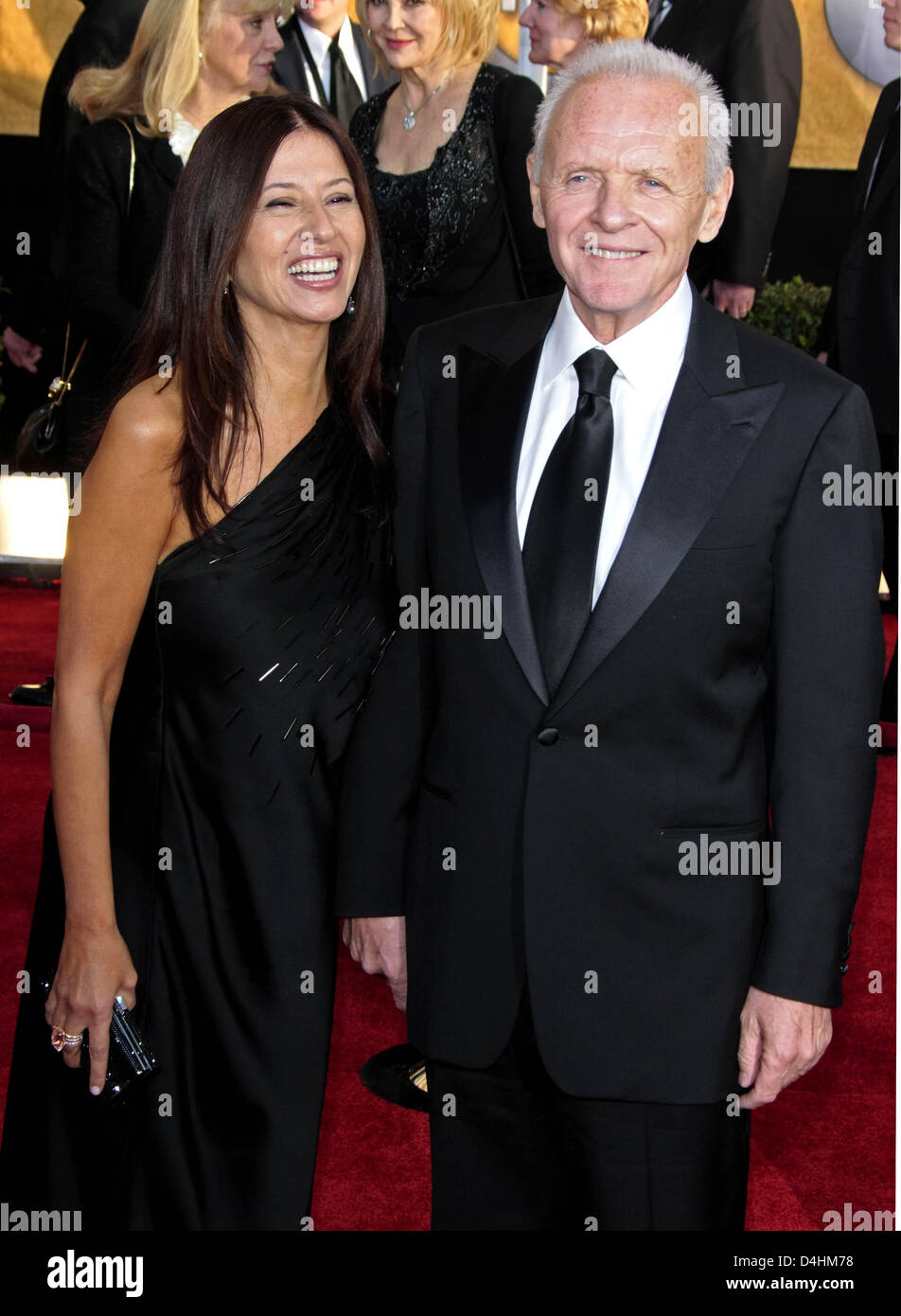 Actor Anthony Hopkins and his wife Stella Arroyave arrive ...