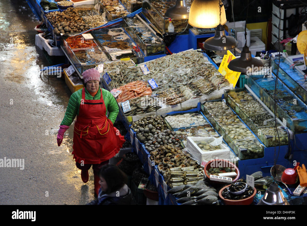 South Korea: Noryangjin Fisheries Wholesale Market, Seoul Stock Photo