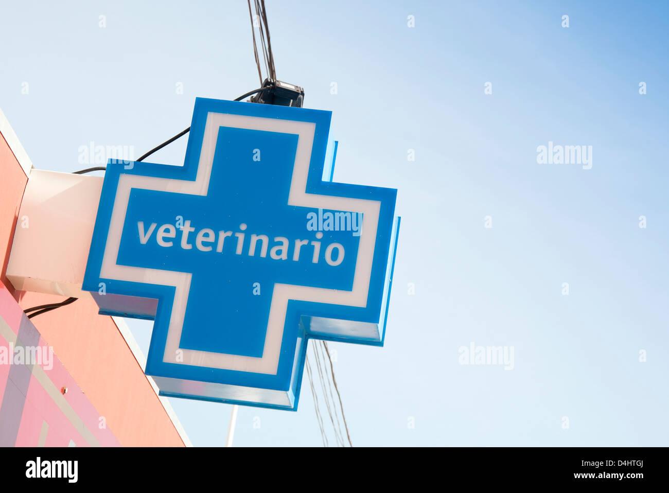 Veterinario sign Fuerteventura - Stock Image