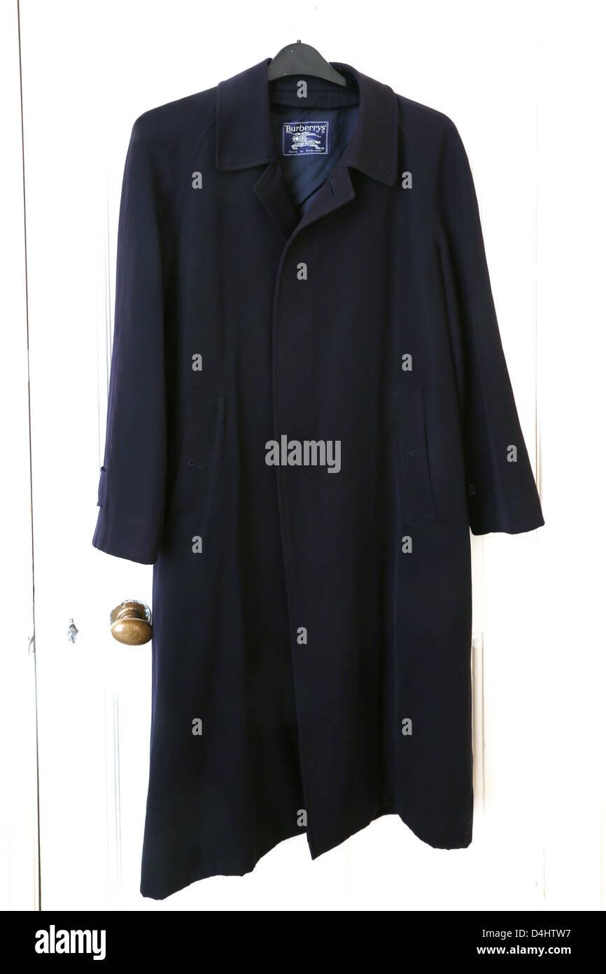 Navy Blue Coat Burberrys - Stock Image