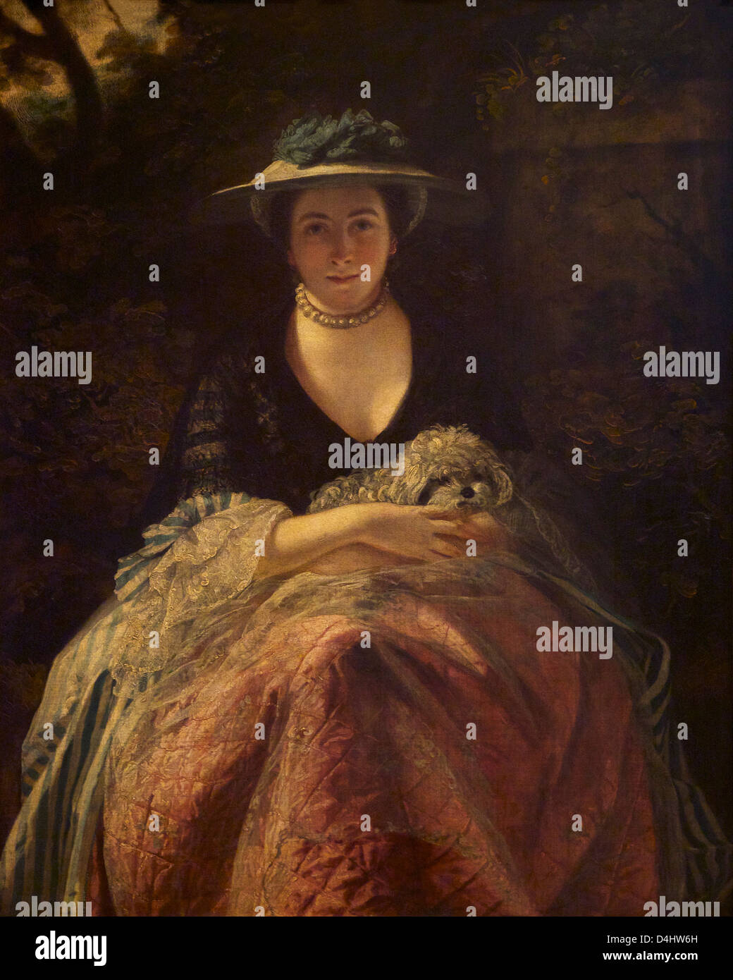 Miss Nellie O'Brien, by Sir Joshua Reynolds, circa 1762, Wallace Collection, London, England, UK, GB Stock Photo