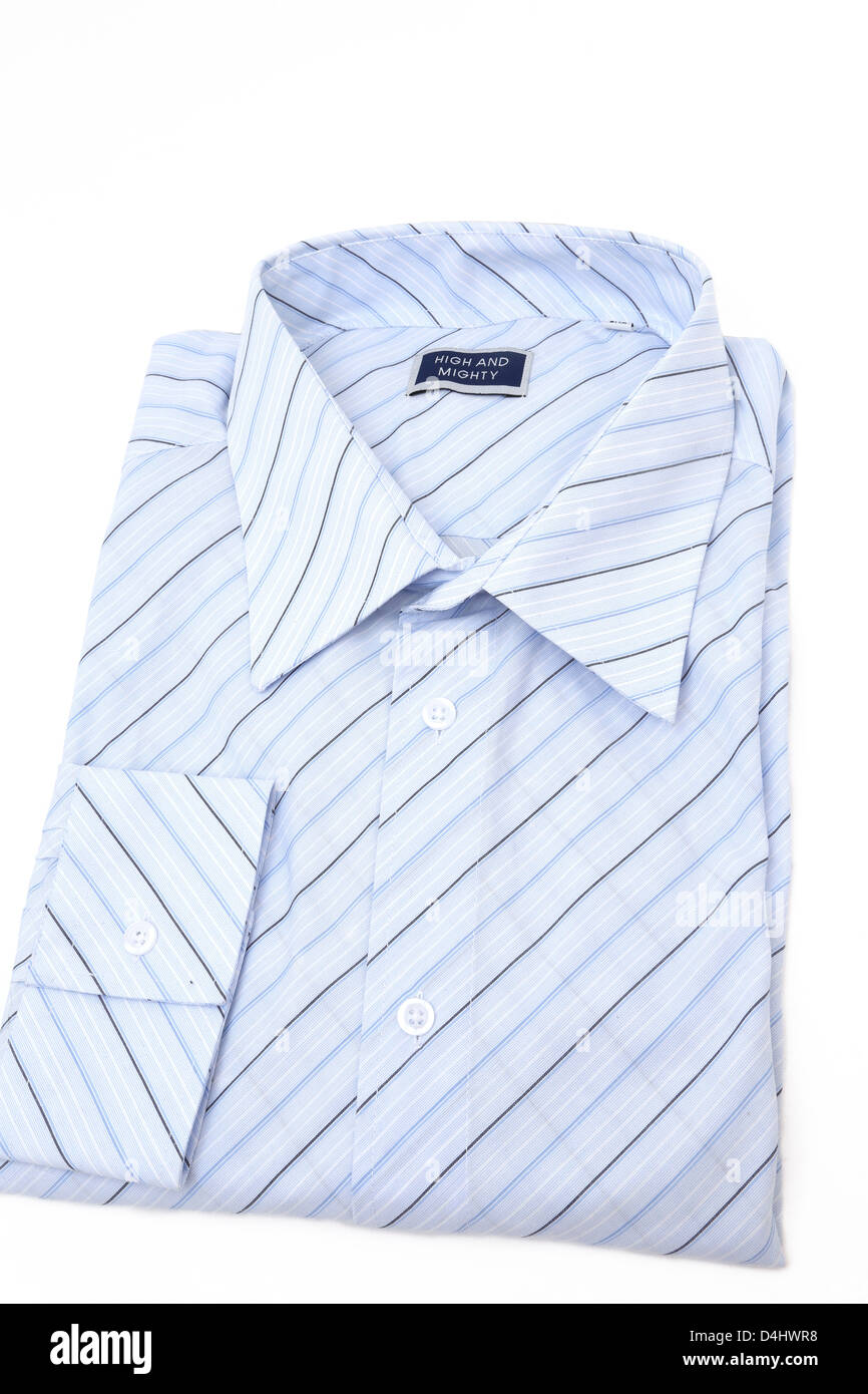 High And Mighty Blue Striped Shirt - Stock Image