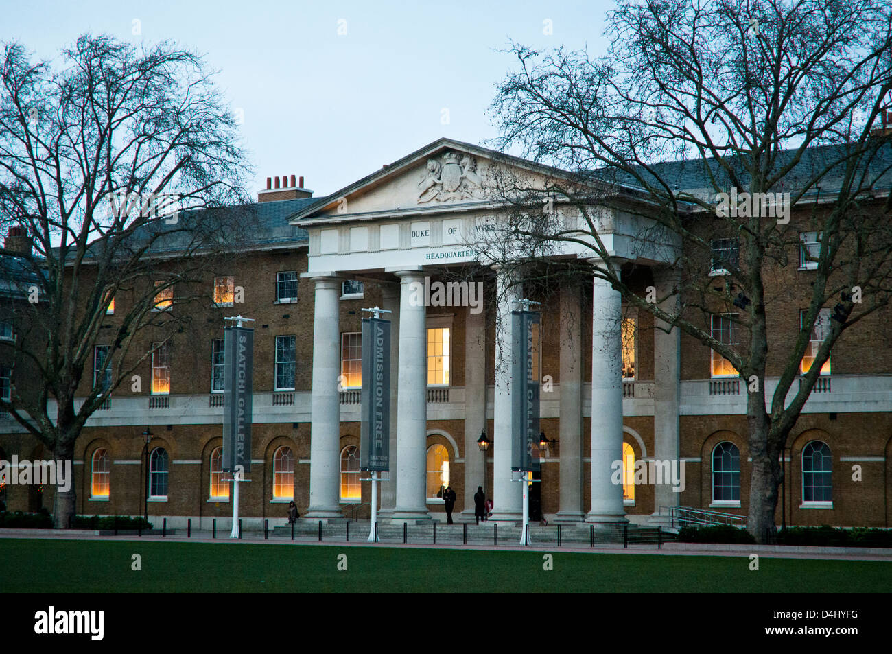 Saatchi Gallery, Duke of Yorks Headquarters, Chelsea, London, SW3, UK - Stock Image