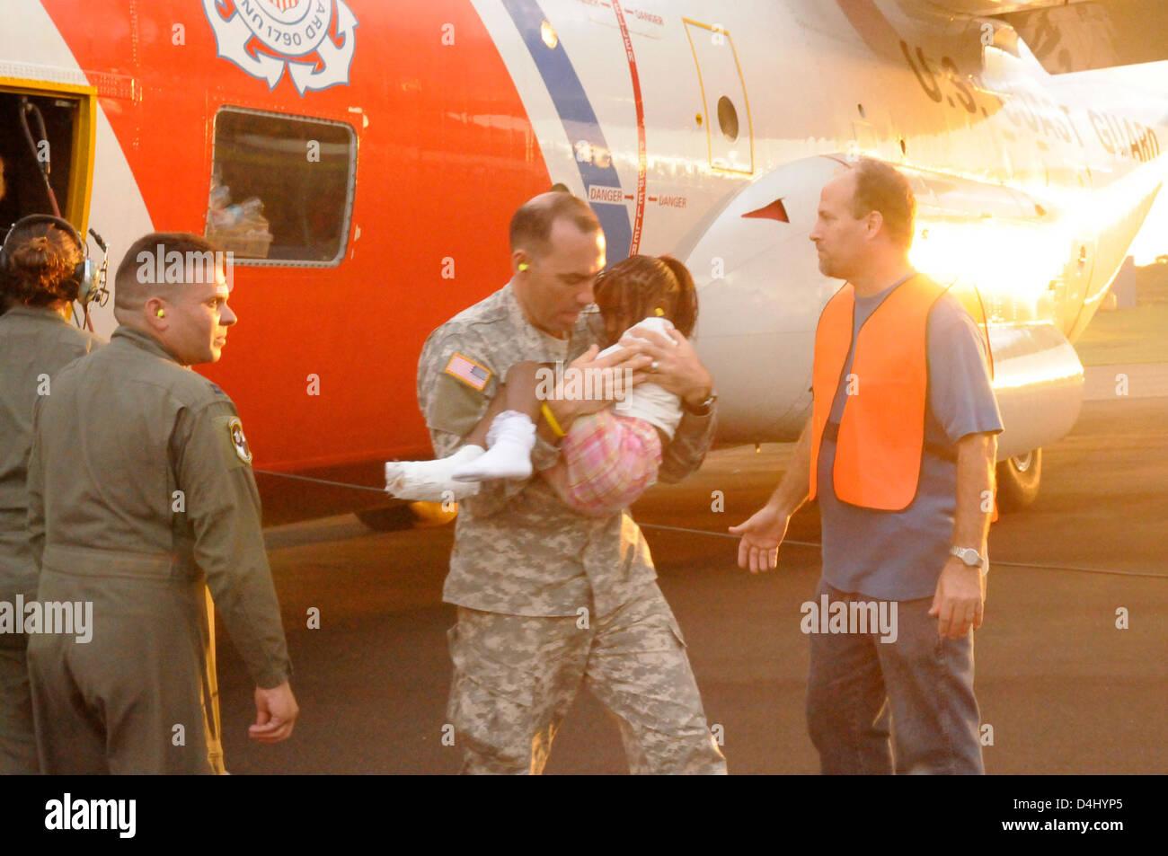Coast Guard continues Haiti evacuation efforts Stock Photo