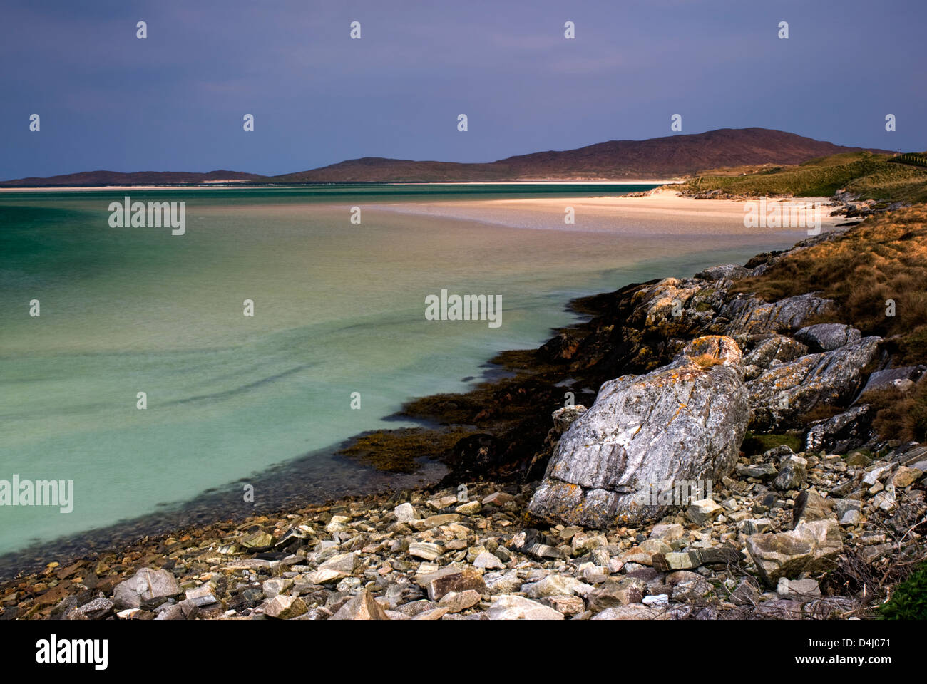 Luskentyre Beach, Isle of Harris, Outer Hebrides, Scotland. - Stock Image