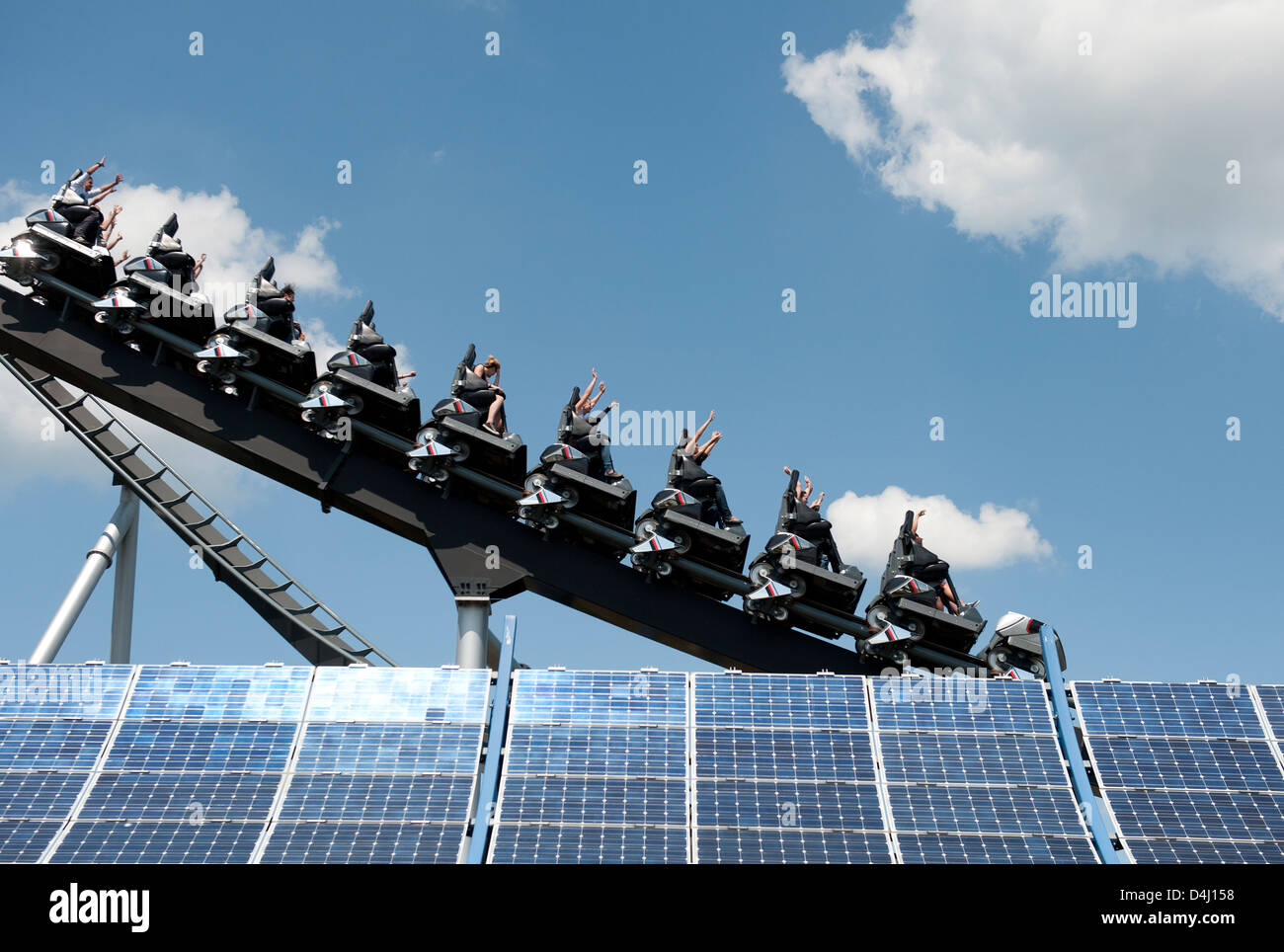 Rusr, Germany, the Silver Star at Europa-Park Rust - Stock Image