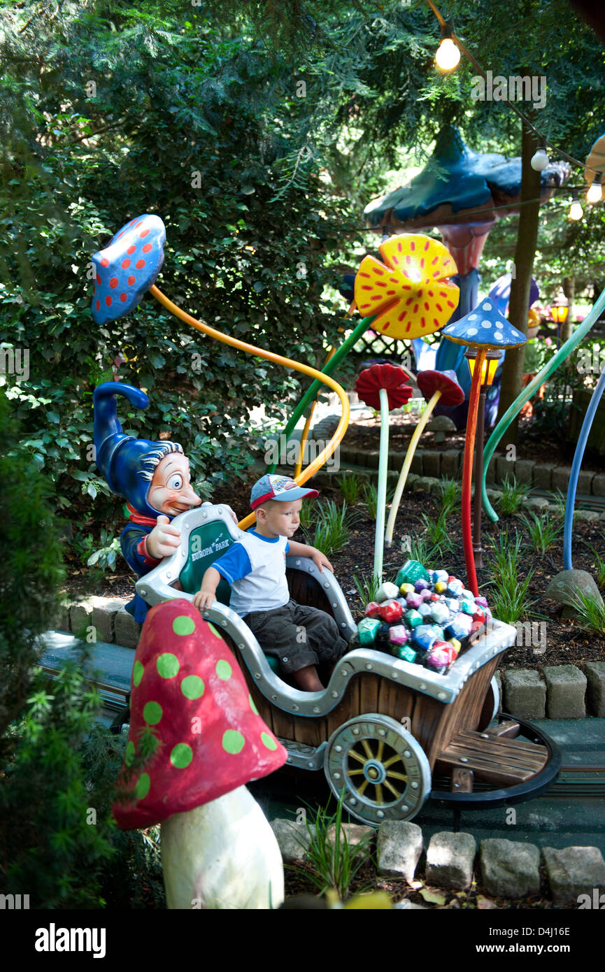 Rusr, Germany, children's driving business in Europa-Park Rust - Stock Image