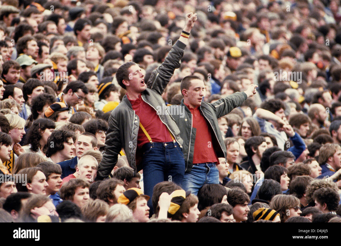 Football Fans In Crowd At Hillsborough 1981 Spurs V Wolves FA Cup Semi Final Hillsbrough Supporters