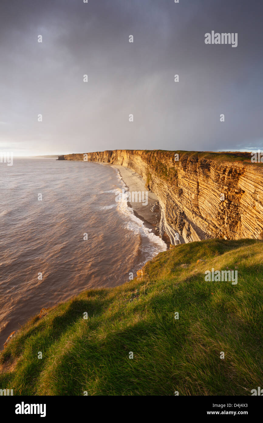 Glamorgan Heritage Coast from Nash Point. Vale of Glamorgan. Wales. UK. - Stock Image