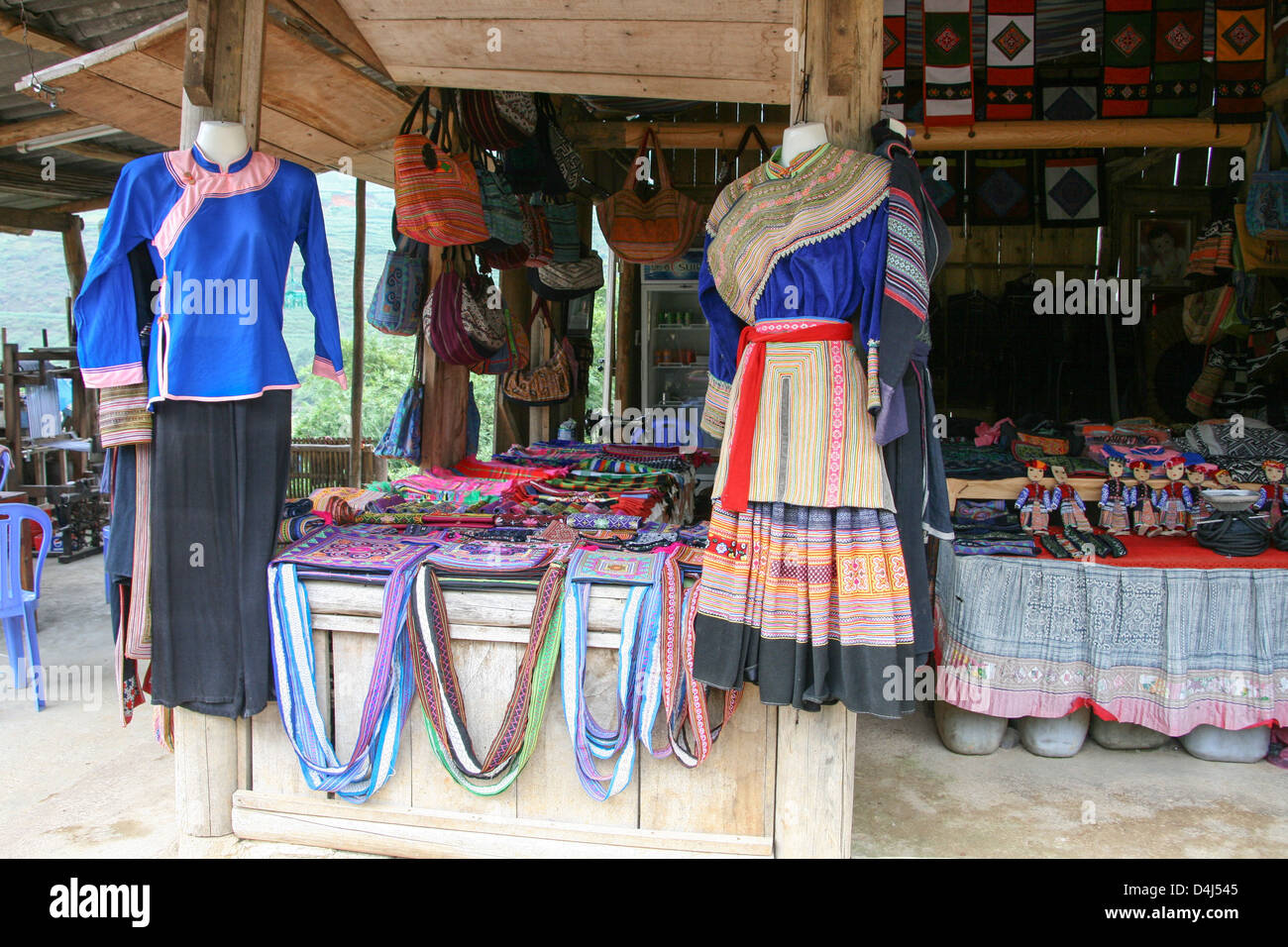 Hmong clothes in Sapa region, North Vietnam, Vietnam, Indochina, Southeast Asia, Asia - Stock Image