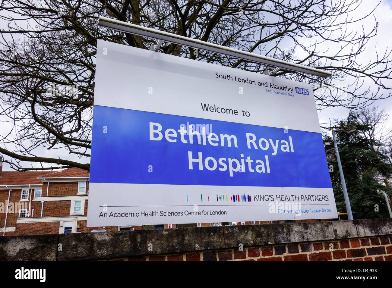 Bethlem Royal NHS Hospital Beckenham London. South London and Maudsley Trust - Stock Image