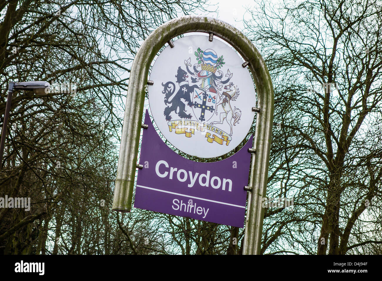 Shirley Croydon South London England - Stock Image