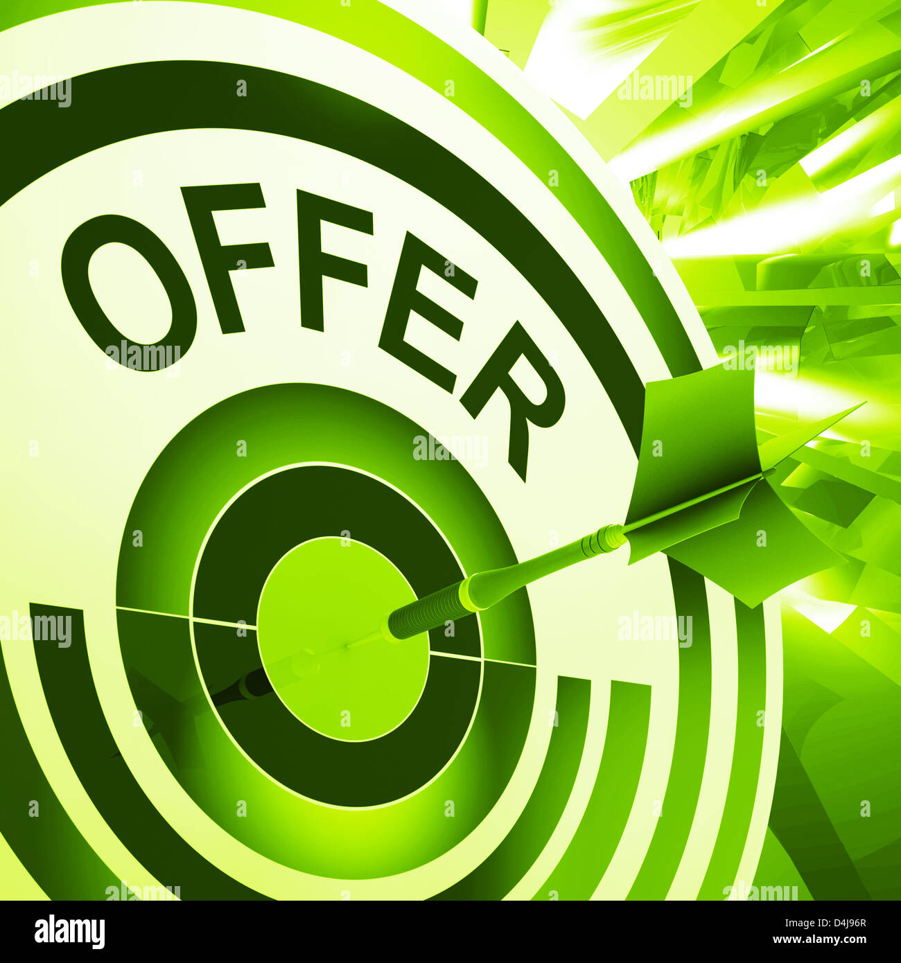 offer target meaning discounts reductions or sales stock photo