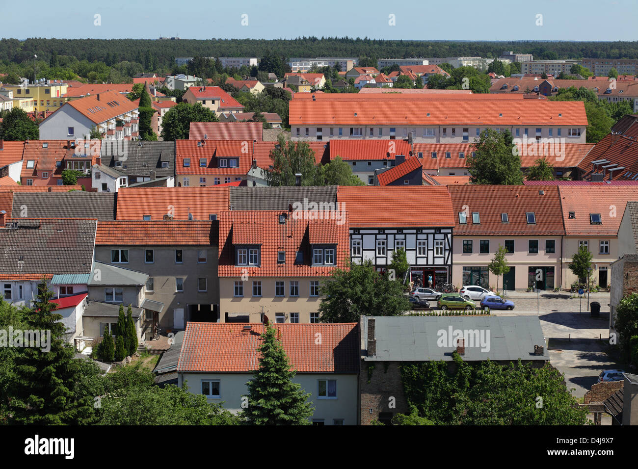Templin, Germany, overview of Templin - Stock Image