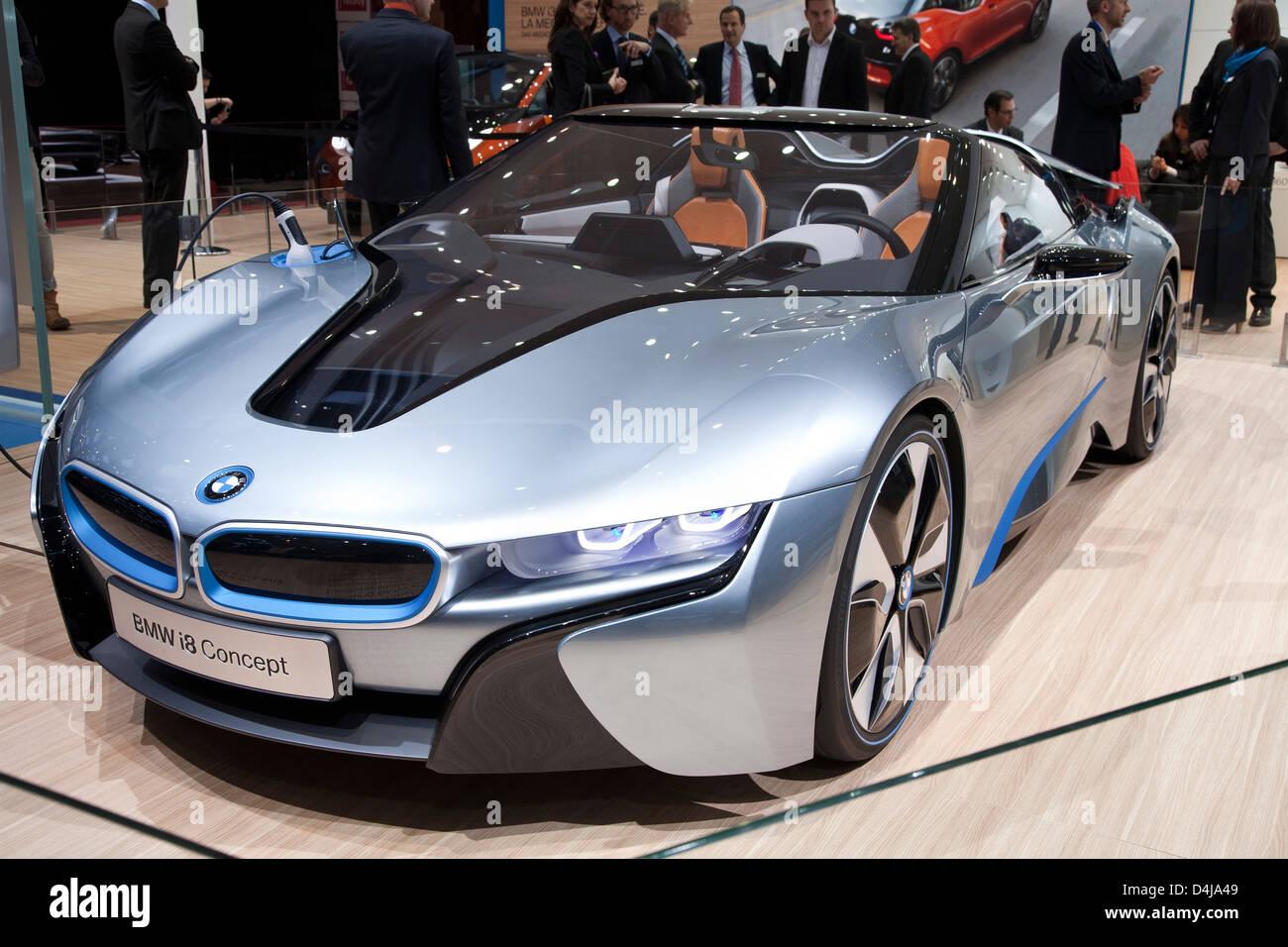 Bmw I8 Concept Spyder Geneva Motor Show 2013 Stock Photo 54492825
