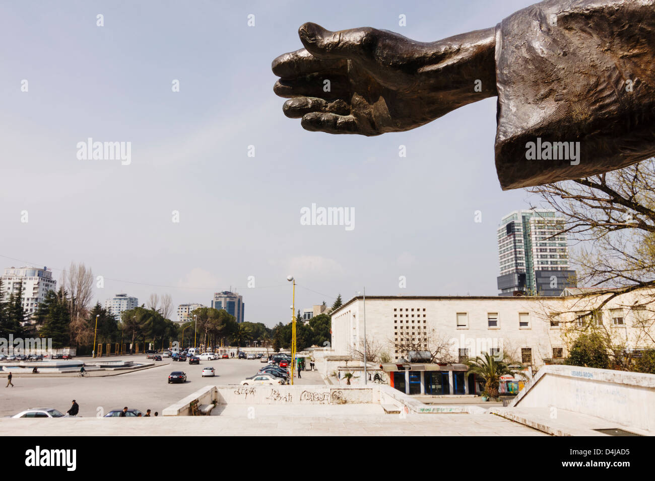 Mother Teresa statue in Tirana, Albania - Stock Image