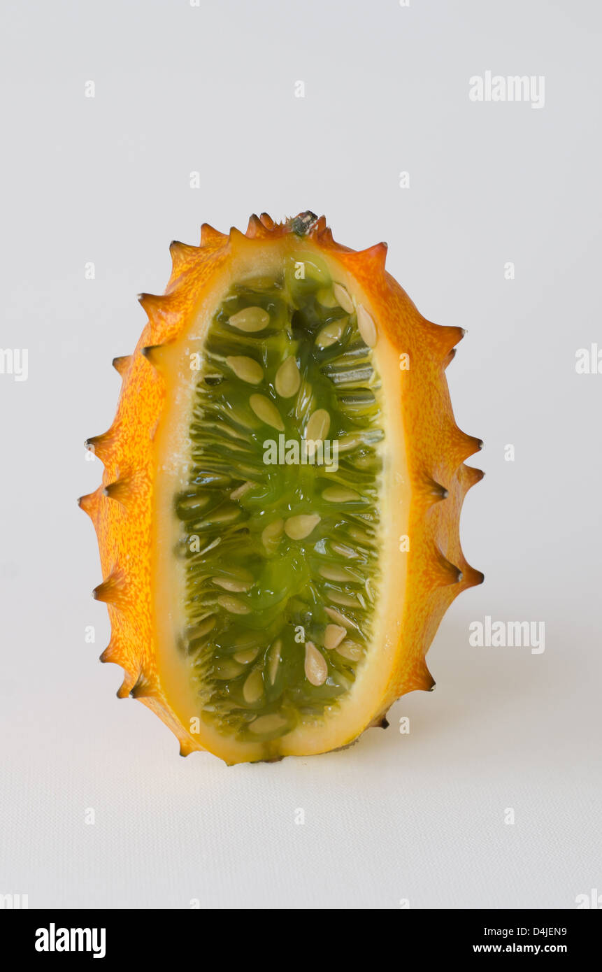hedged gourd, African Horned Cucumber, English tomato spike - Stock Image