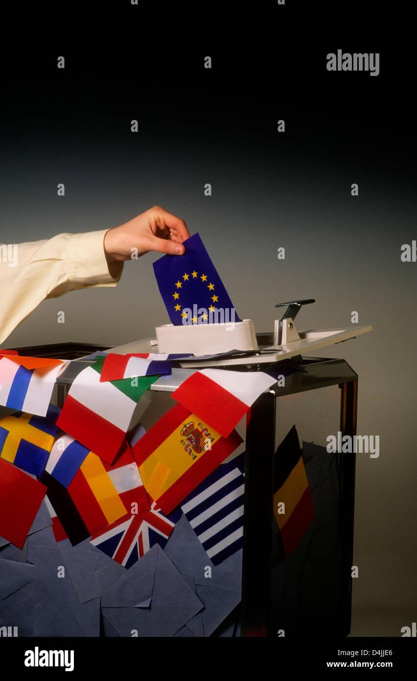 European vote, election voting in the EU concept - Stock Image