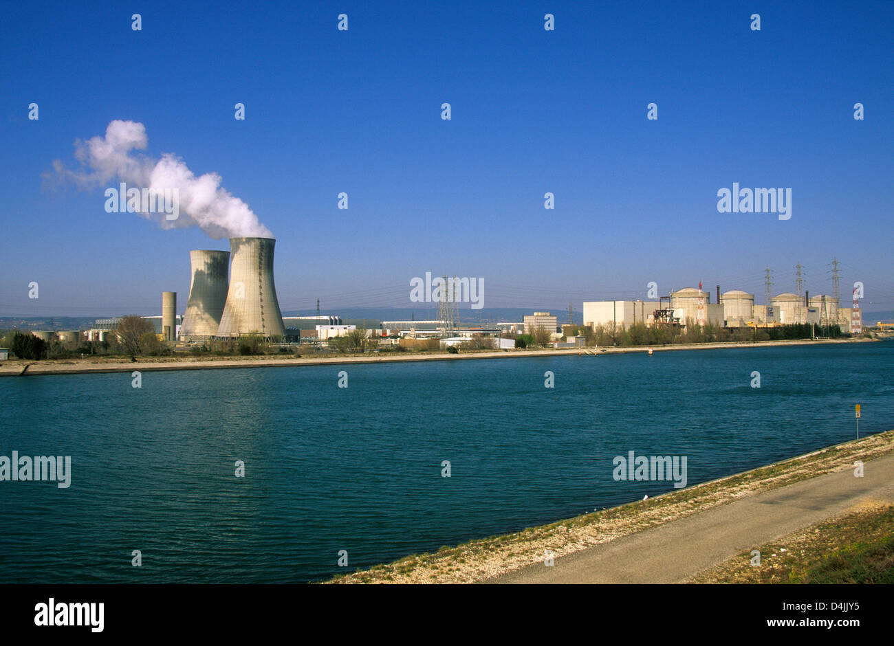 Nuclear power plant,  Tricastin, Drome, FRANCE - Stock Image