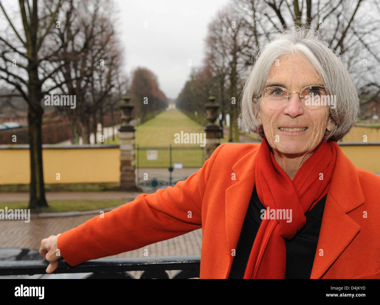 Best-selling author Donna Leon captured in Hanover, Germany, 16 February 2009. On the occasion of the 250th anniversary - Stock Image