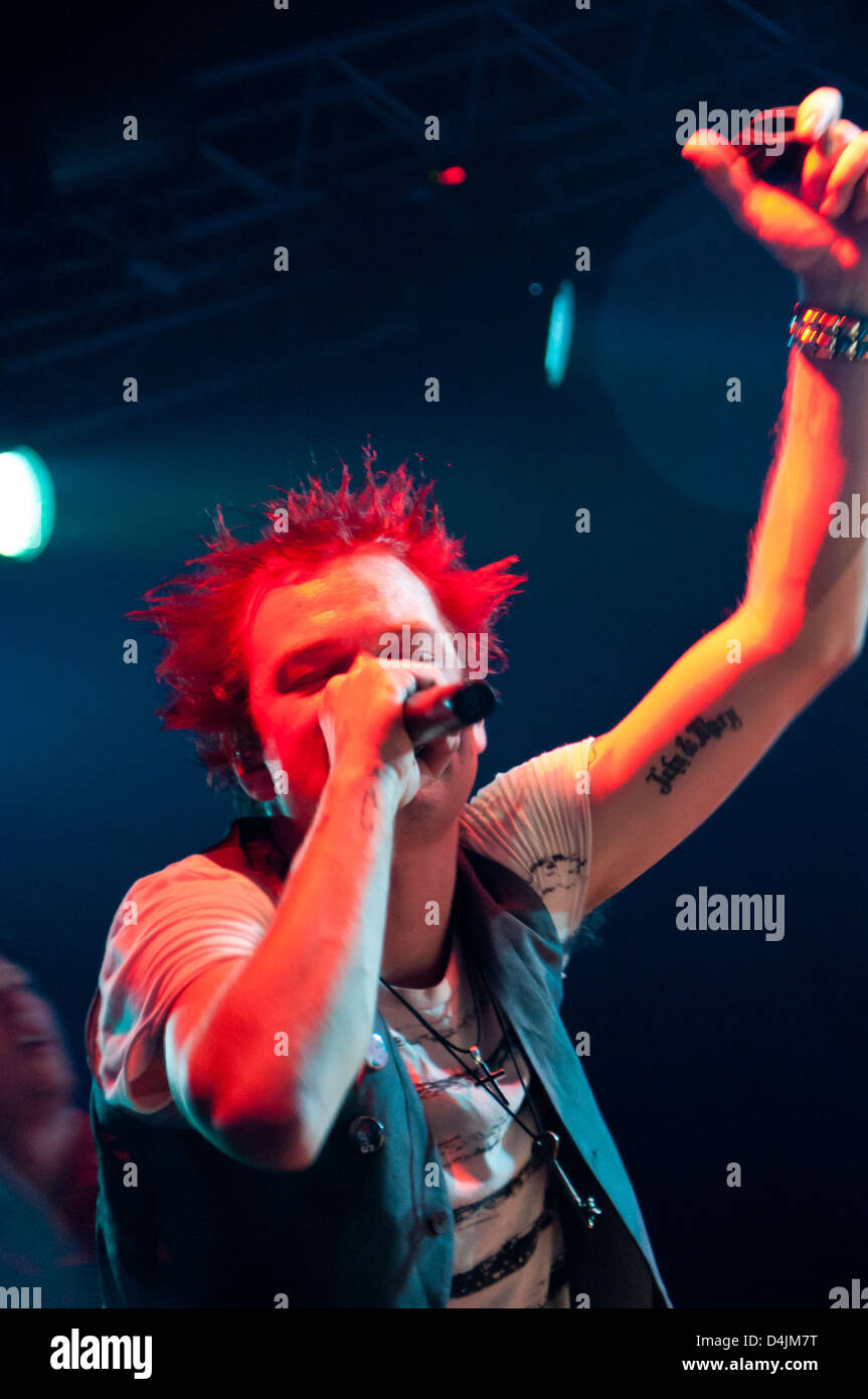 Deryck Whibley. Sum 41 concert at Arena Moscow.  Jul 25, 2012 - Arena Moscow, Moscow, Russia - Stock Image
