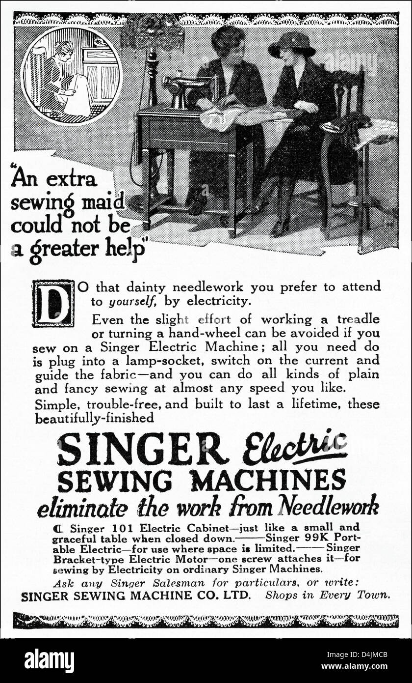 Singer Sewing Machine Advertisement High Resolution Stock Photography And Images Alamy