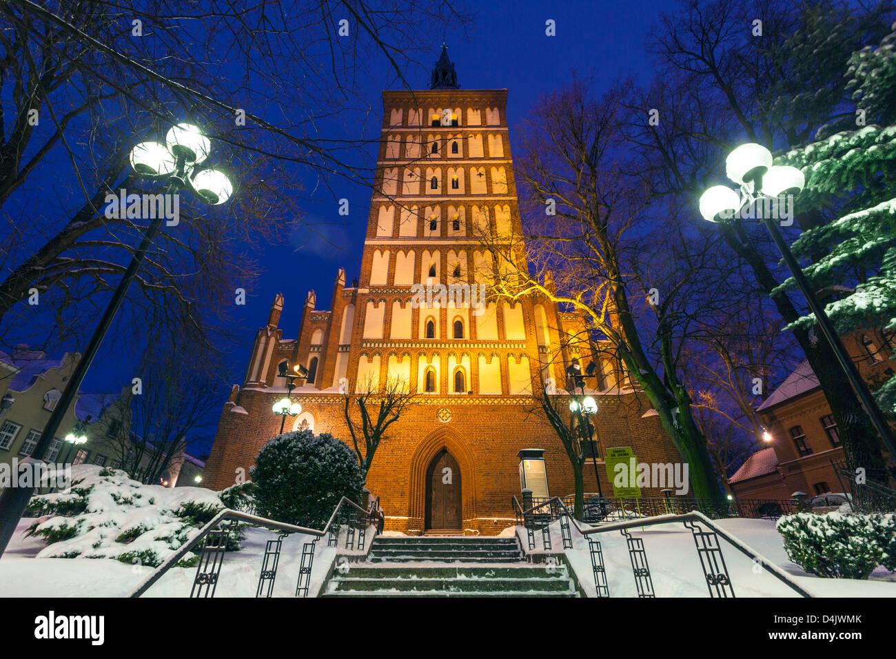Olsztyn Cathedral, Warmia, Poland - Stock Image