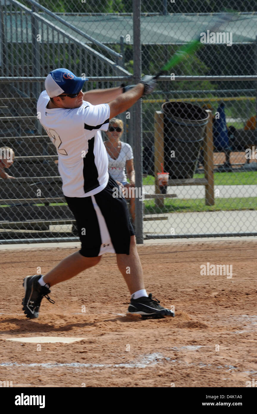 Softball for Soldiers Stock Photo