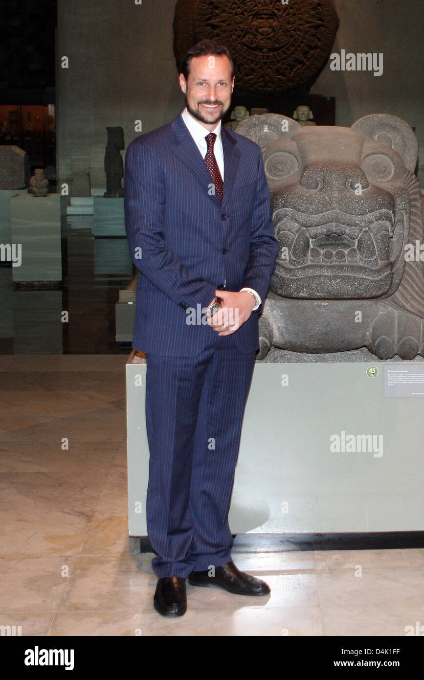 Norwegian Crown Prince Haakon visits the National Museum of Anthropology and History in Mexico City, Mexico, 18 - Stock Image