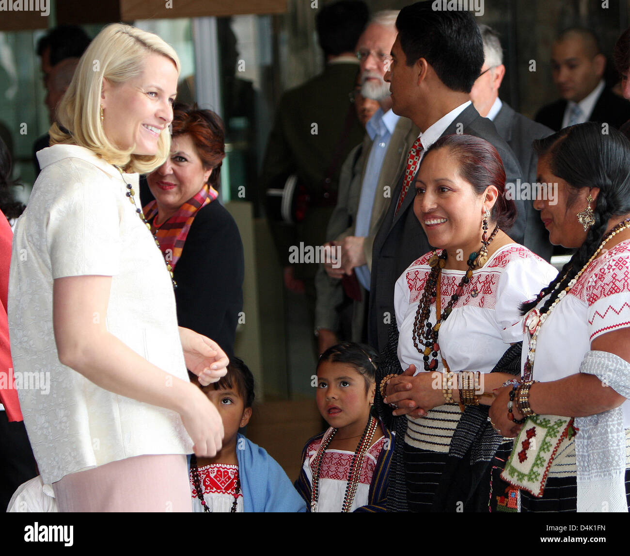 Norwegian Crown Princess Mette-Marit visits the National Museum of Anthropology and History in Mexico City, Mexico, - Stock Image