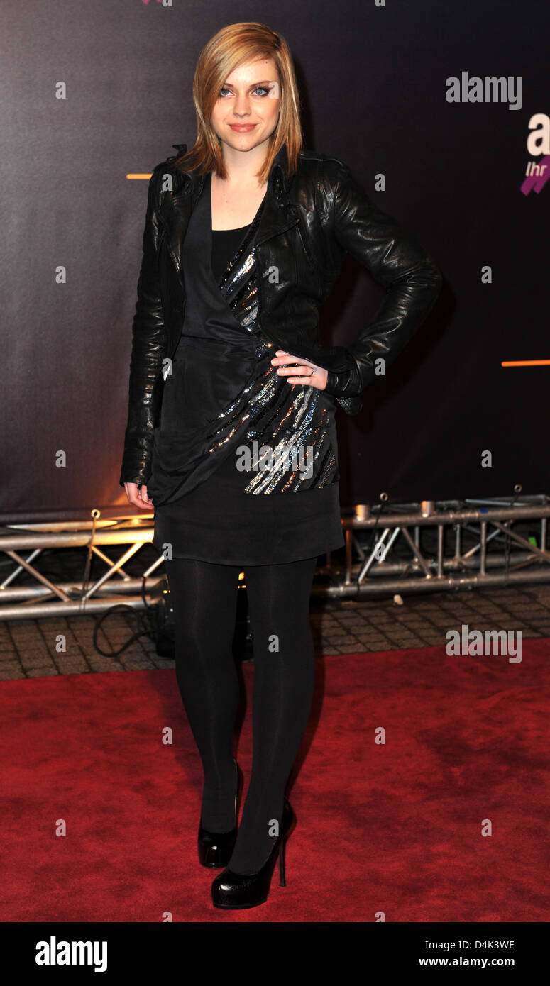 Singer Amy MacDonald arrives for the conferment of the Radio Rainbow Awards at ?Schwarzwaldhalle? in Karlsruhe, - Stock Image