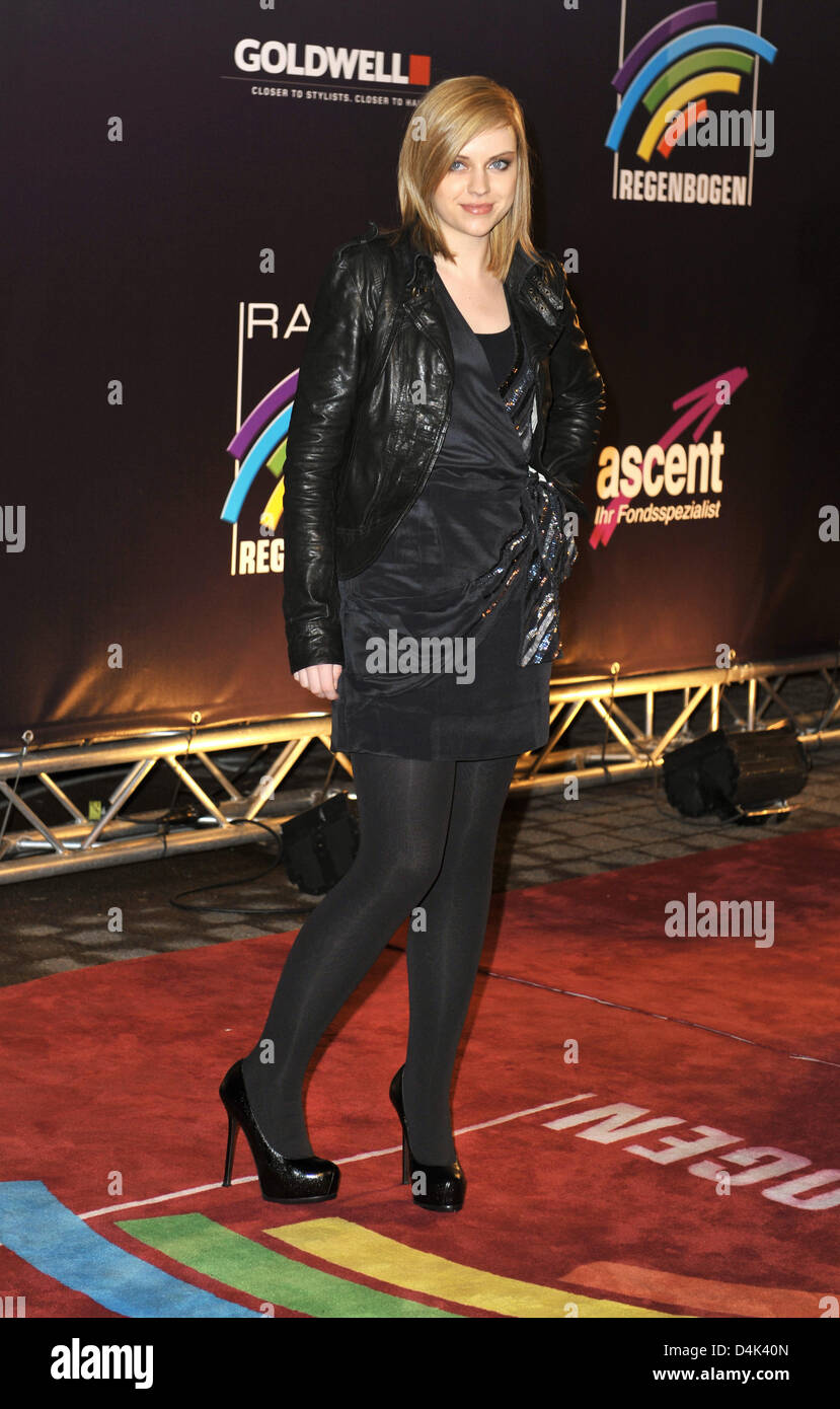 Singer Amy MacDonald arrives for the conferment of the Radio Rainbow Awards at ?Schwarzwaldhalle? in Karlsruhe, Stock Photo