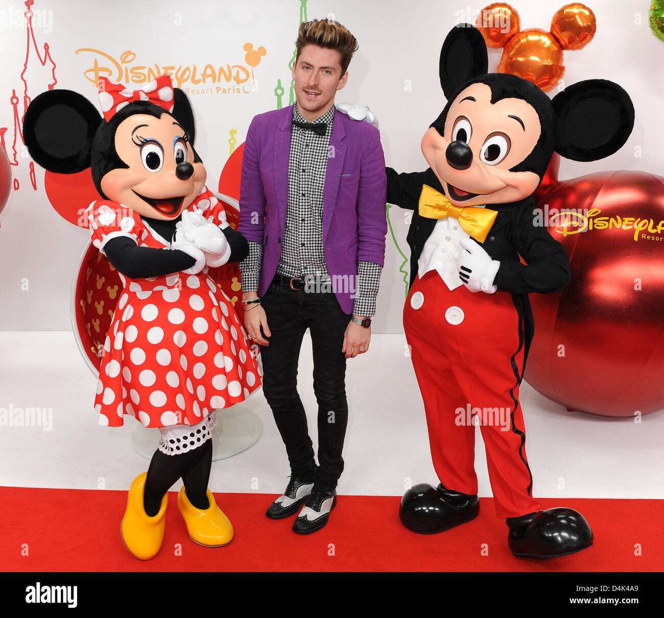 Designer Henry Holland arrives at the premiere of the new Disney show ?Mickey?s Magical Party? at Disneyland Resort Stock Photo