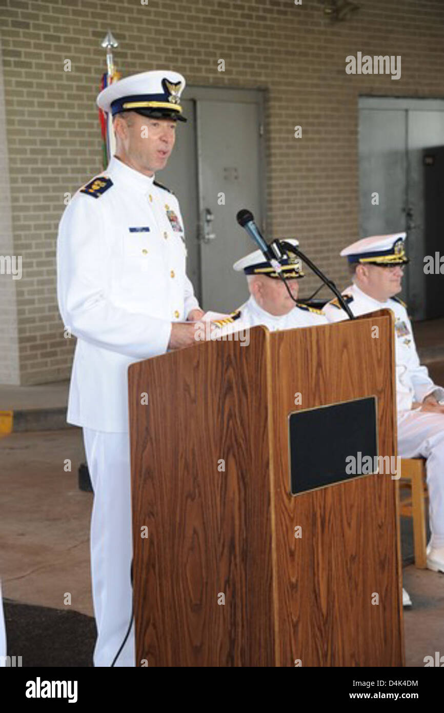 Pamlico change-of-command Stock Photo
