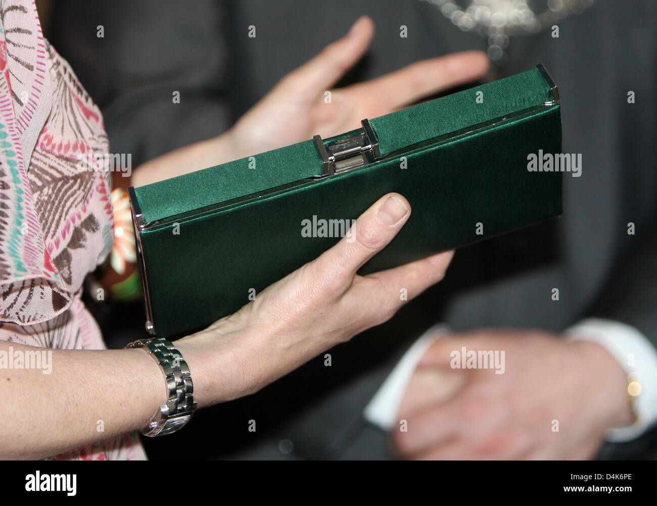 Princess Laurentien of the Netherlands receives the first copy of the jubilee book while she attends the celebration - Stock Image