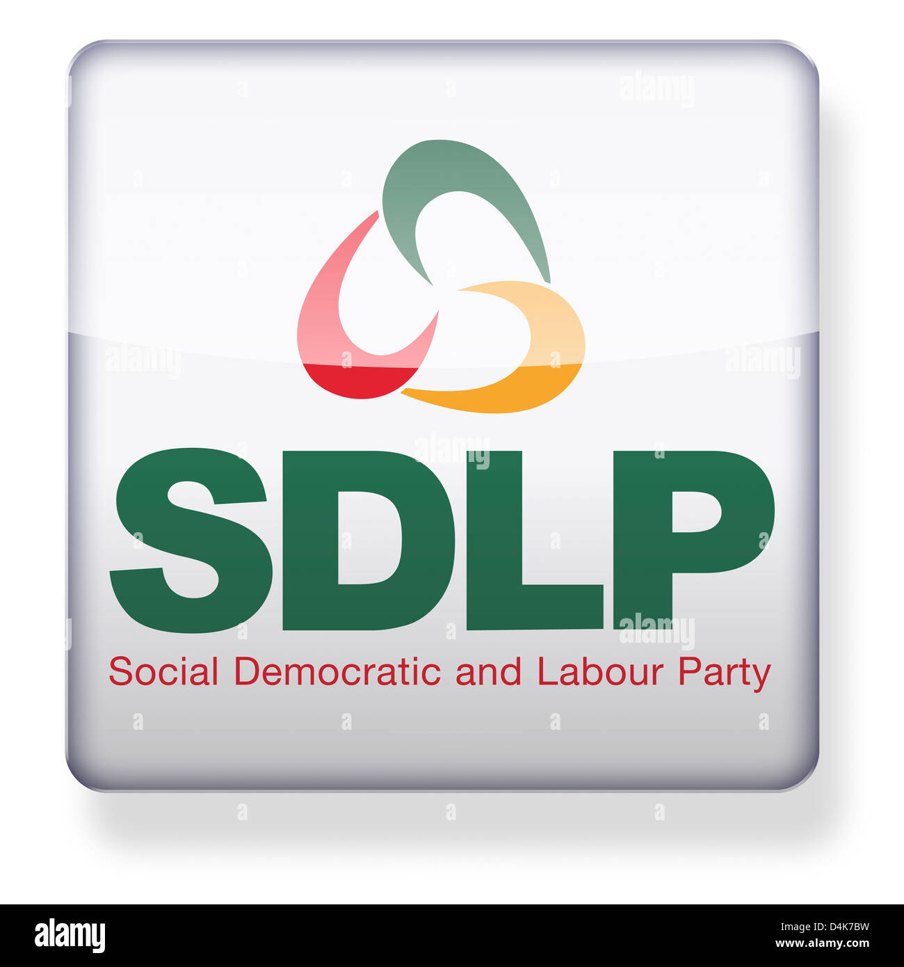 Social Democratic and Labour Party logo as an app icon. Clipping path included. - Stock Image