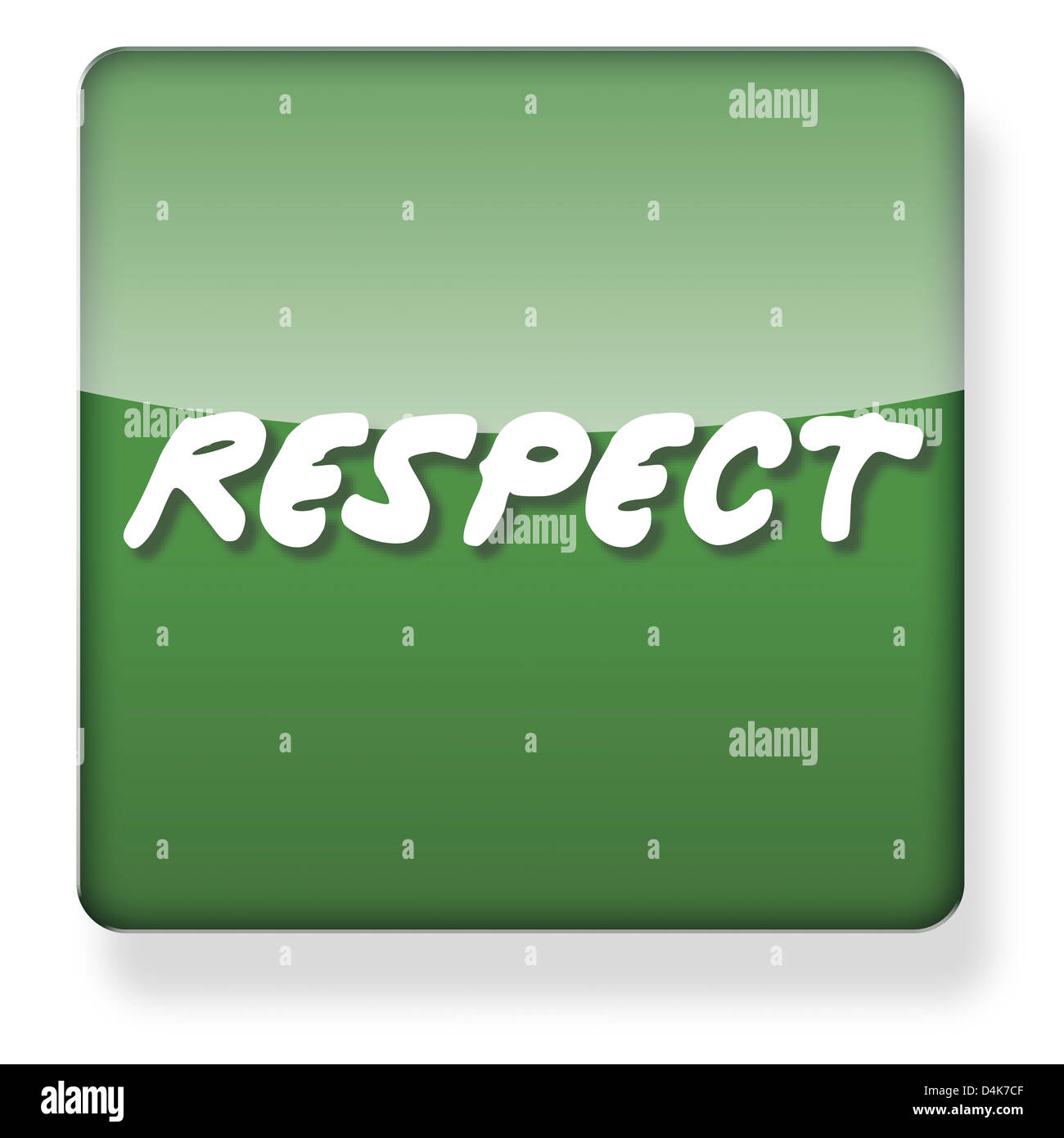 Respect Party logo as an app icon. Clipping path included. - Stock Image