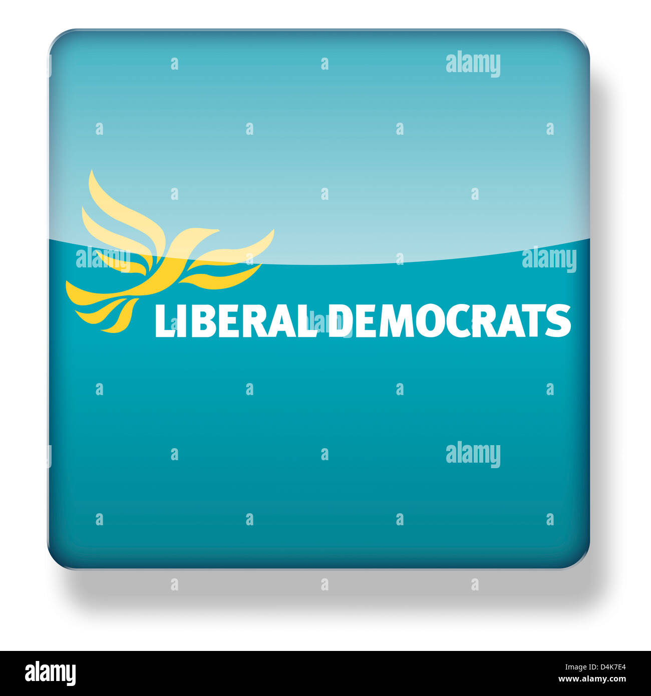 Liberal Democrats Party logo as an app icon. Clipping path included. - Stock Image
