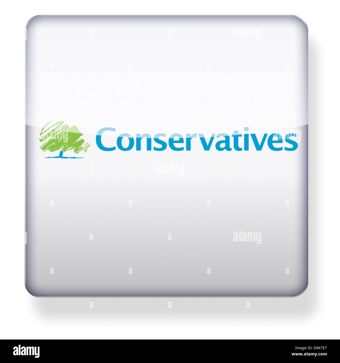 Conservative Party logo as an app icon. Clipping path included. - Stock Image