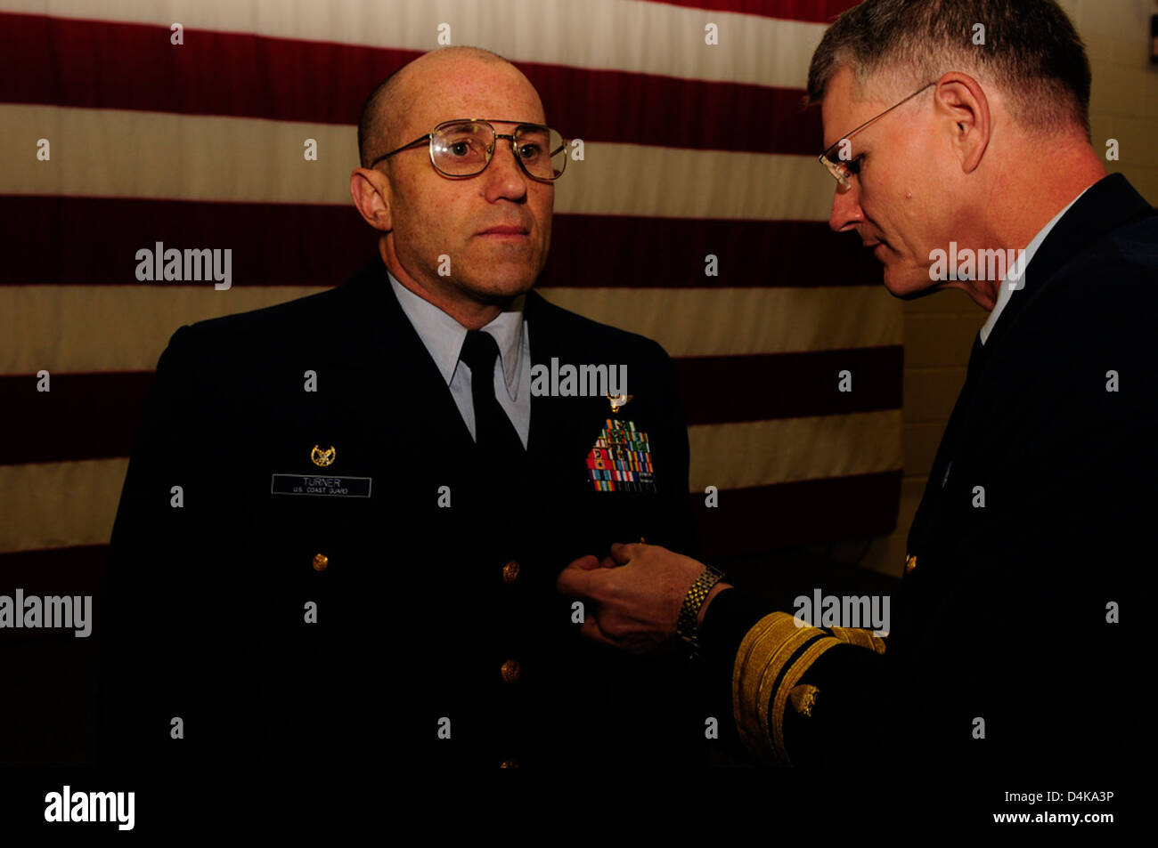 Pinning of Defense Superior Service Medal Stock Photo