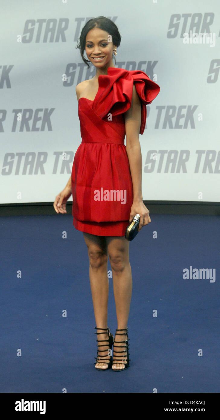 US actress Zoe Saldana Nyota Uhura arrives for the Germany ...