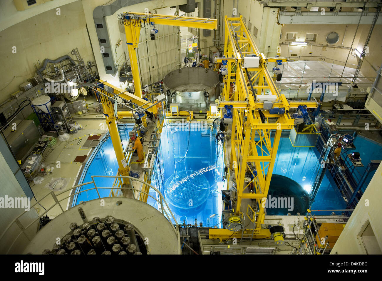 (dpa file) A file picture dated 15 September 2008 displays an interior view of the containment of nuclear power - Stock Image