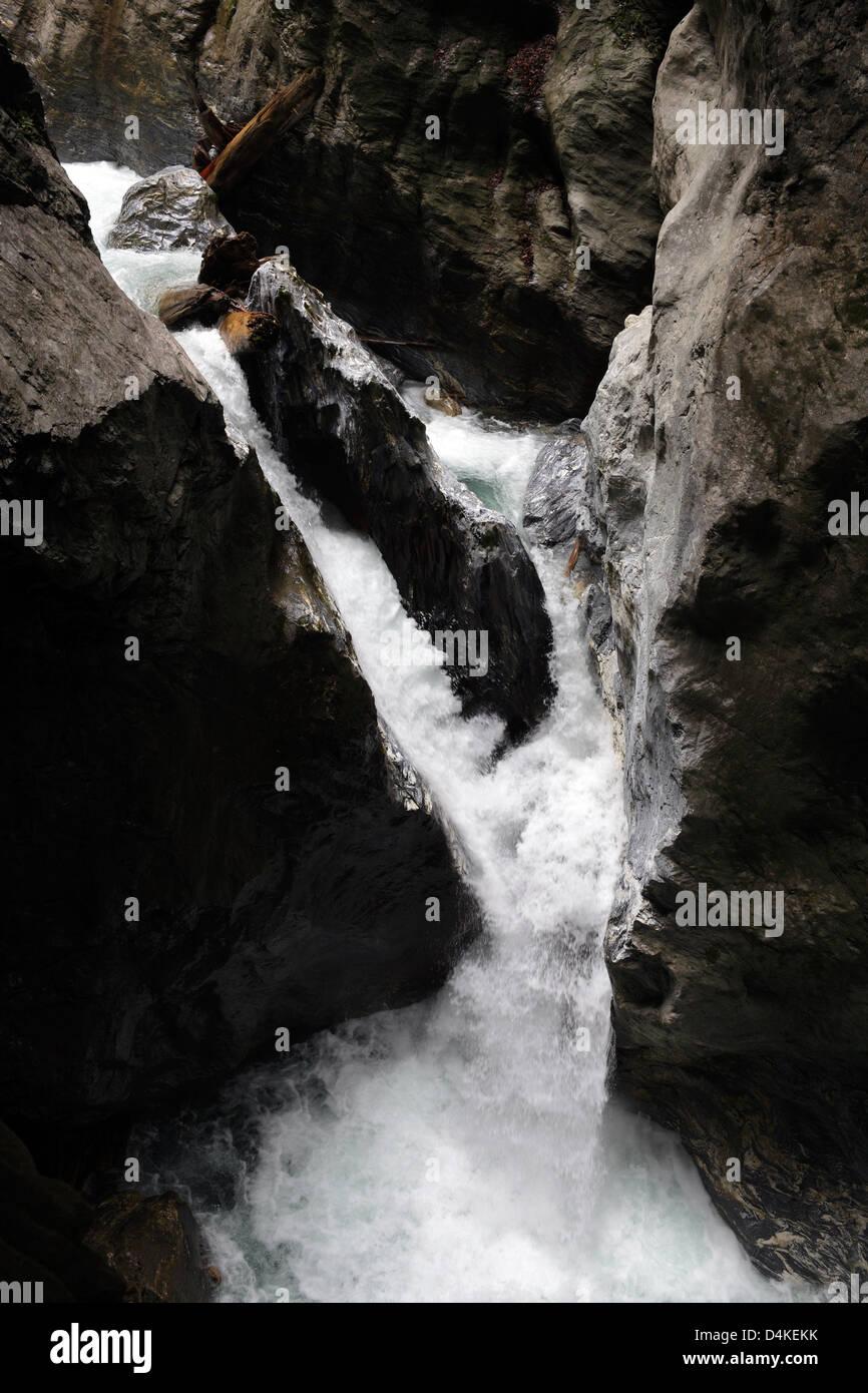 St. Johann, Austria, mountain Grossarler Ache in the Liechtenstein Gorge Stock Photo