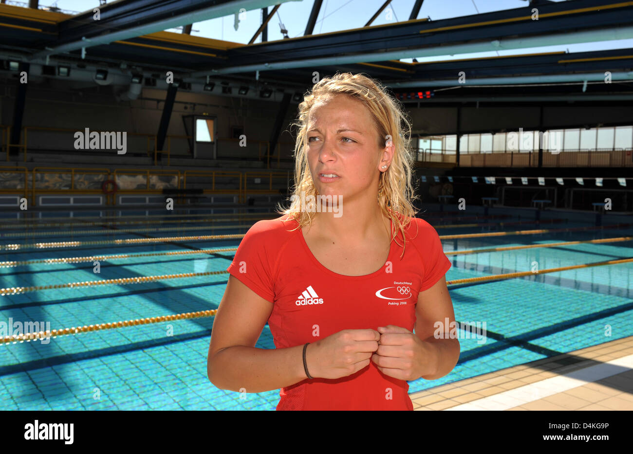 German Swimmer Daniela Samulski Pictured In The Training Camp Of The German Swimming Association Dsv In Ravenna Italy  Photo Bernd Thissen