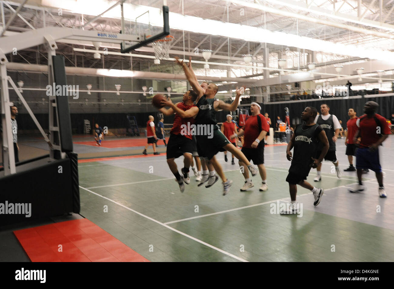 Fourth annual March Madness Sector New Orleans Basketball Tournament Stock Photo