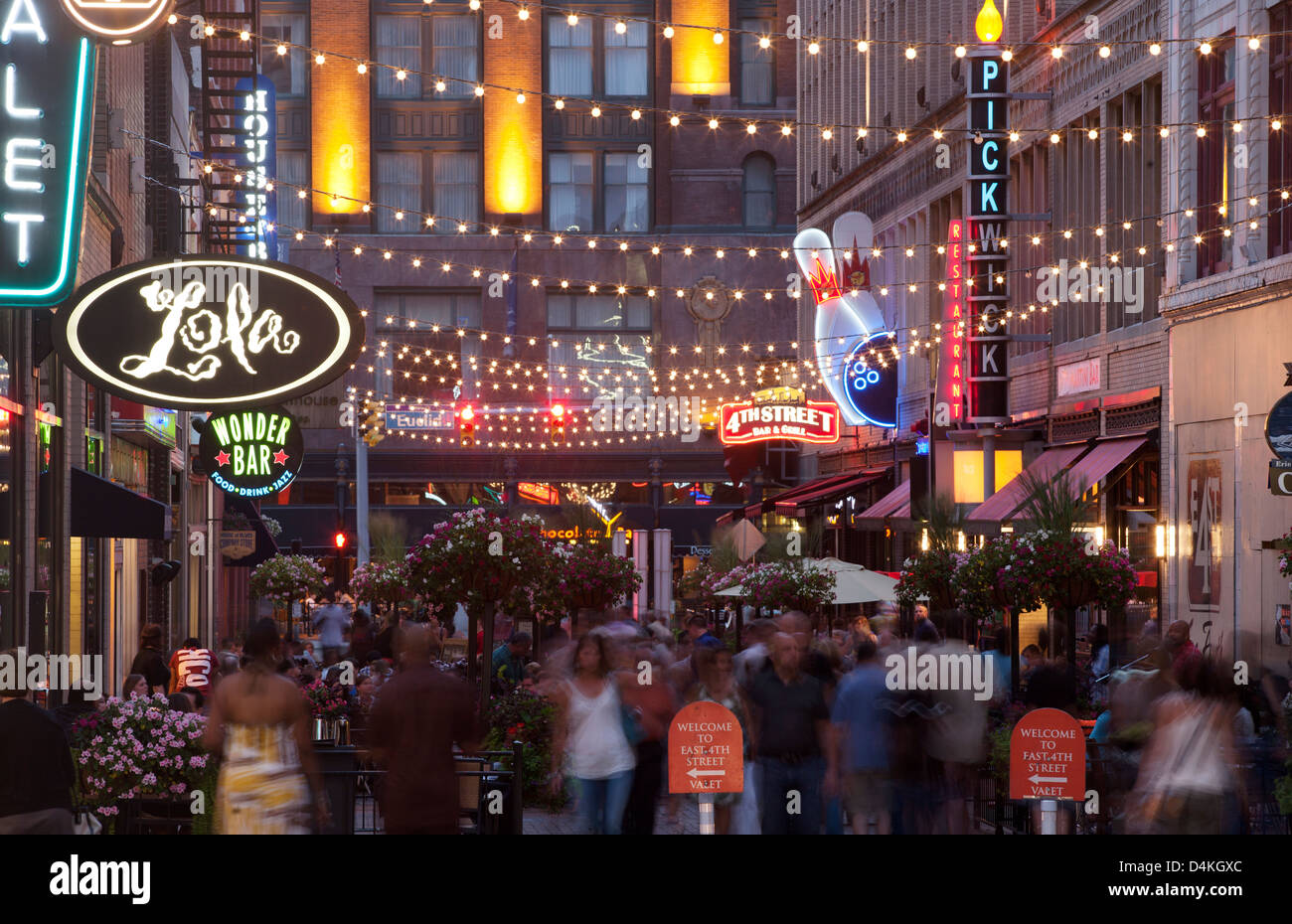 Outdoor Restaurants East Fourth Street Downtown Cleveland