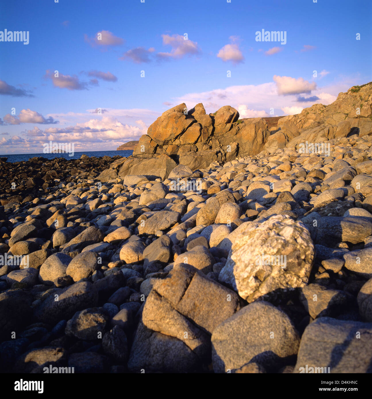 Rocky coast, Normandy, France, Europe - Stock Image