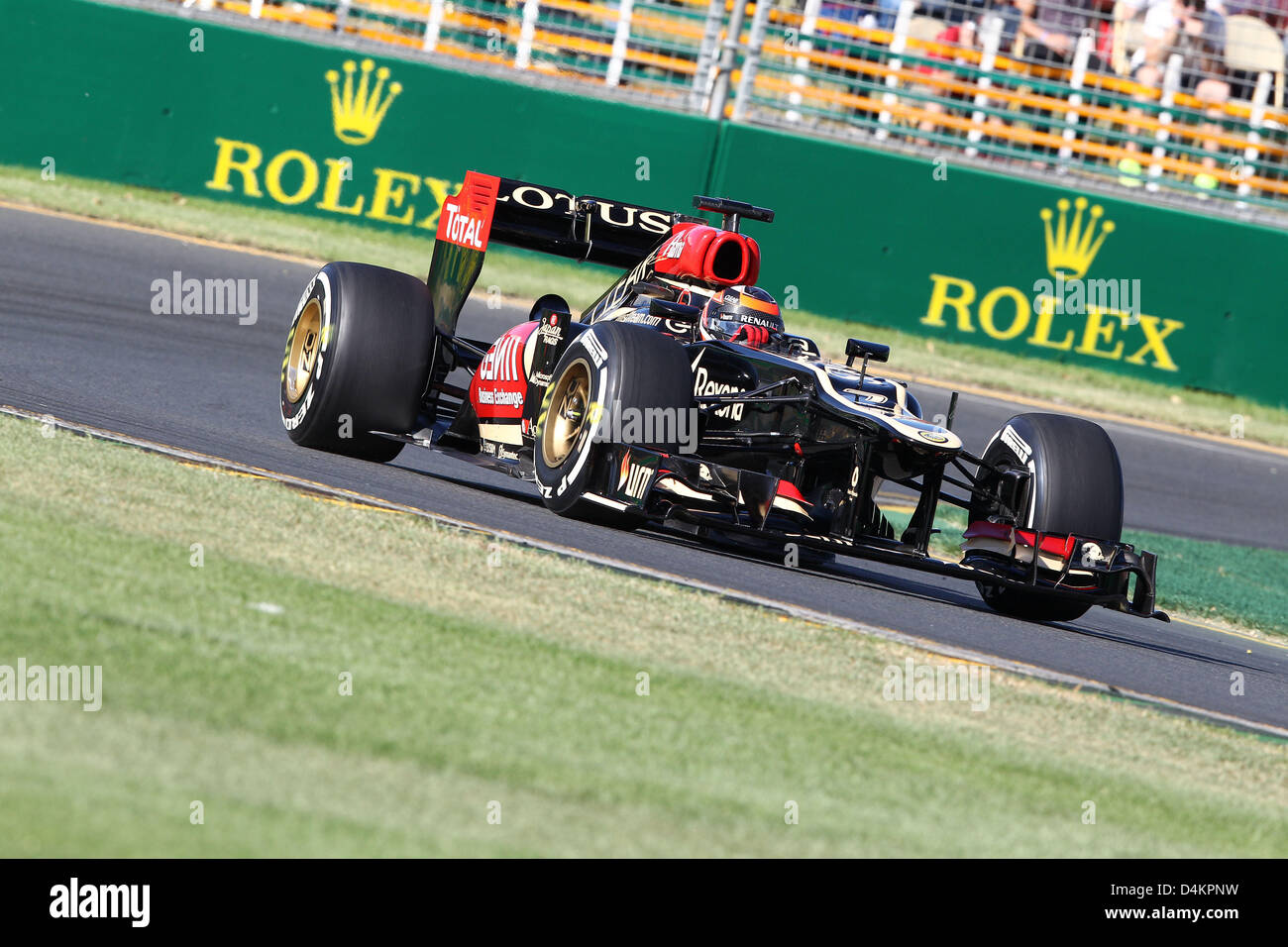 Romain Grosjean Lotus F1 Team Stock Photos & Romain Grosjean Lotus