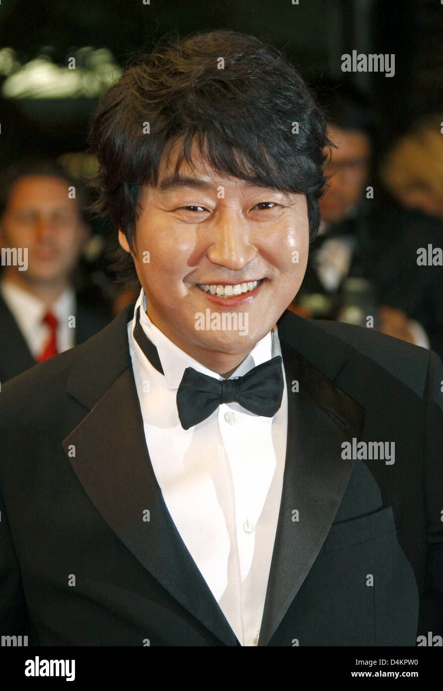 Korean actor Kang-Ho Song arrives for the gala screening of the film ?Bak-Jwi? (Thirst) running in competition at - Stock Image