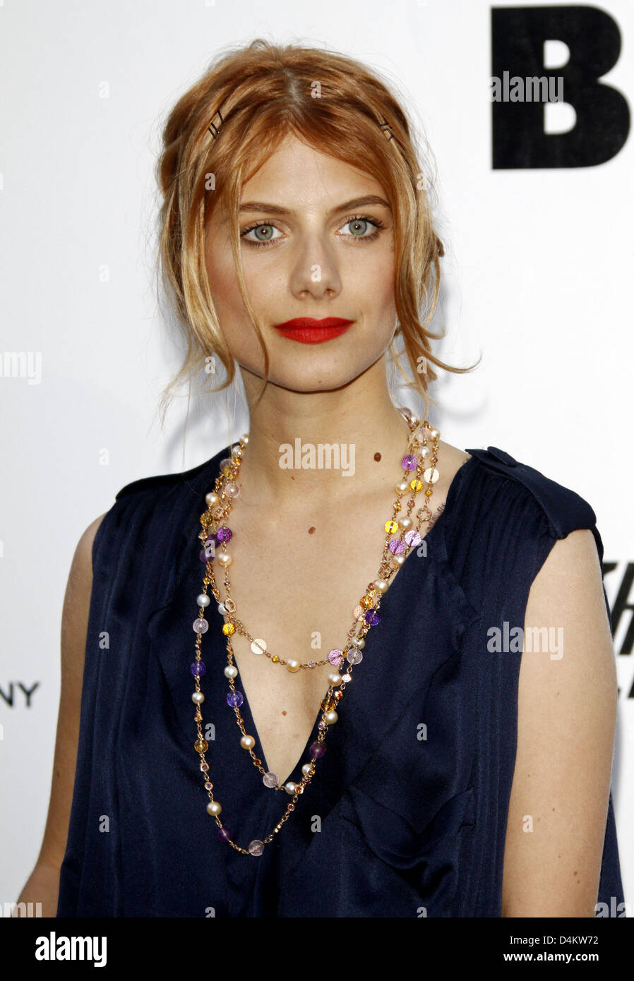 French actress Melanie Laurent attends the amfAR Cinema ...